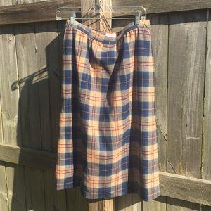 Vintage Authentic Cailean Tartan wool skirt